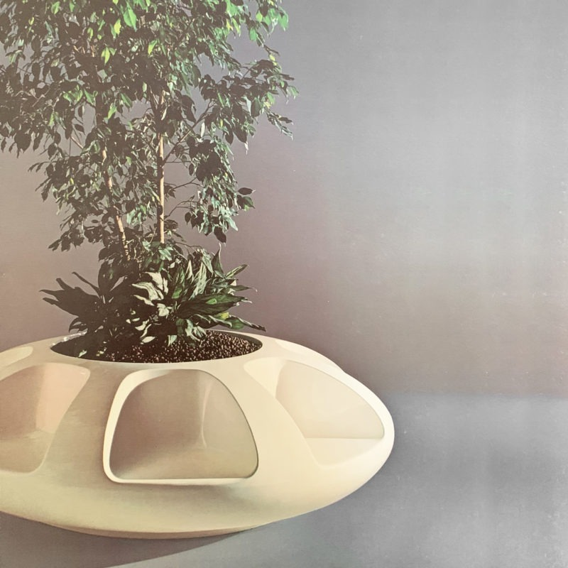 Designtel - Carousel Seat and Planter, Elsie Crawford for Sintoform